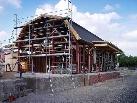 von der Albrecht-Halle zum StückGUT: Foto vom Umbau, Juli 2006
