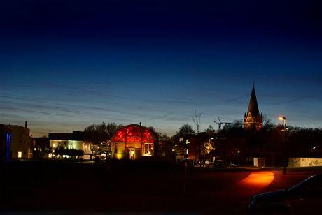 Südpark Solingen zur Blauen Stunde