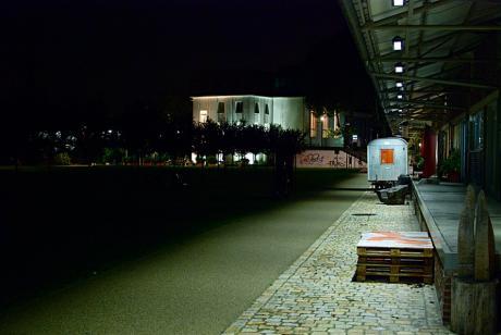 Südpark am Abend: mir den Künstlerateliers