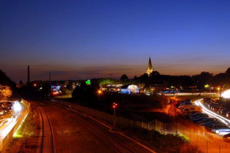 Echt.Scharf.Solingen: Lichternacht 2007, Solinger Südpark mit Güterhallen, Forum Produktdesign und der Luther-Kirche