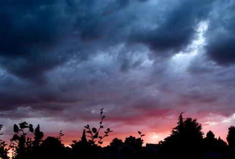 Sonnenuntergang am Donnerstag