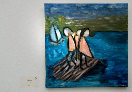 In Seenot: Öl auf Leinwand, Susanne Eggert