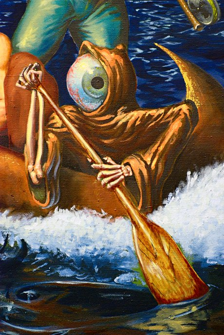 "Detail aus ""The Ark"", 2010: Öl auf Leinwand - Joseph Sracic"