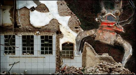 Der Abriss im Jahre 2008: Exit