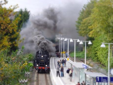 Bahnhalt Grünewald: im Modell nachgestellt