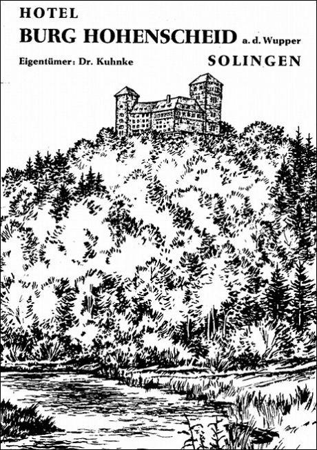 Hotel Burg Hohenscheid a.d. Wupper: Aus dem Hotelprospekt