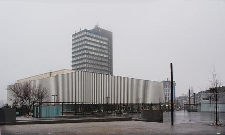ehemaliger Karstadt-Komplex: mit dem ehemaligen Turmhotel