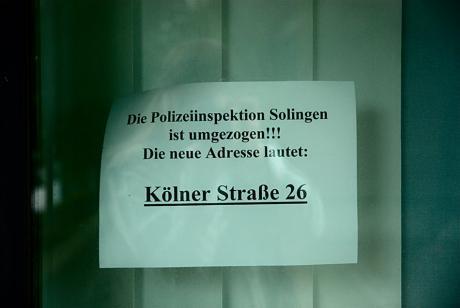 Die Polizeiinspektion Solingen ist umgezogen