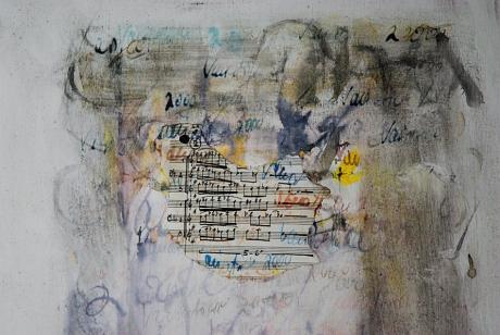 Variationen: Marianne Nitzsche, Acryl/Collage chin. Tusche, 60×80 cm