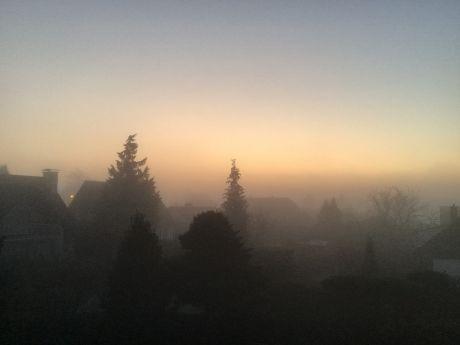 Nebel: der Tag erwacht