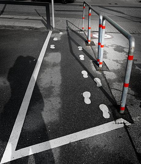 Vorgekaut, der Weg