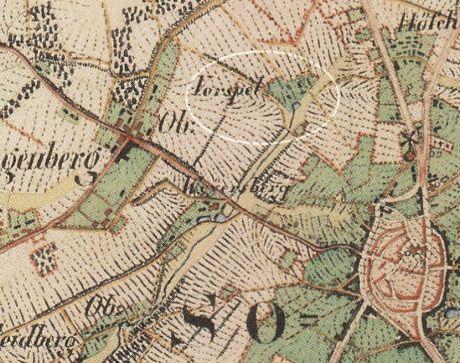 Karte aus dem Jahre 1844: Vorspel