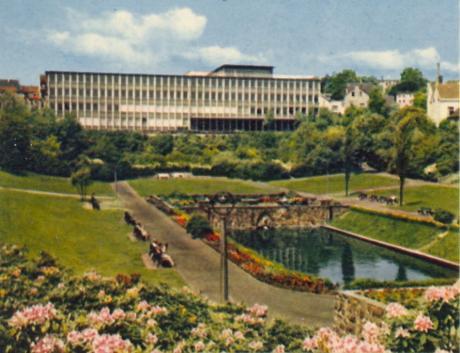 Vorspel-Anlagen - Postkartenansicht vermutlich Anfang der 1970er Jahre: (Verlag Schöning)