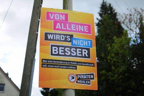 Von alleine wird's nicht besser: Piraten wählen