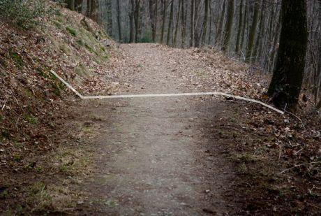 Grenzlinie: geputzt / natürlich