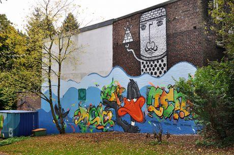 Graffito im Gustav-Coppel-Park