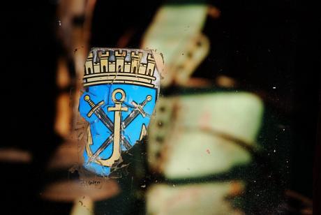 Solinger Wappen: Anker und Schwert im Schild