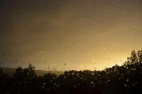 Regenschauer im Anmarsch