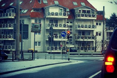 Schneeflöckchen: an der Kreuzung Krahenhöhe