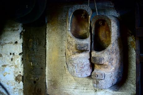 Holzschuhe der Schleifer: auch Wittblotschen genannt