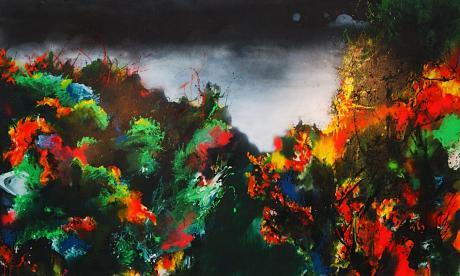 beschattet von einer Wolke: sterblicher Dinge 1 von 2008, Acryl auf Leinwand, Sandra Schlipköter
