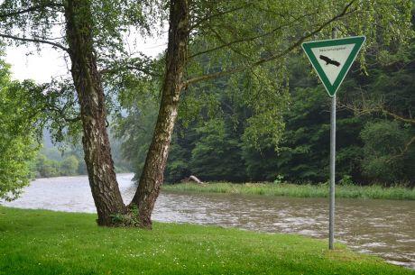 Naturschutzgebiet Wupper: ein wenig Hochwasser