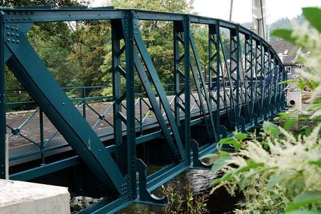 Wupperbrücke: Kohlfuhrt. Blick von der Solinger Seite Richtung Wuppertal