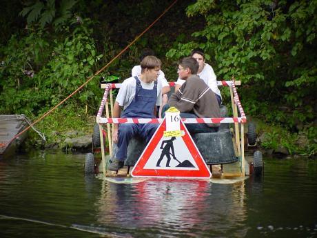 Teilnehmer an der Wupperfloßfahrt: (2002)