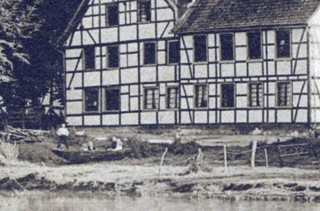 Detail der Postkarte: Eine Bootstour auf der Wupper