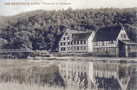 Das Bergische Land: Wupperhof im Wuppertal (gelaufen 1907, Verlag Friedrich Knecht, Höhscheid-Solingen)