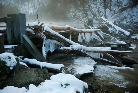 Wupperstau: im Winter