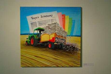 Tages Zeit(d)ung: Ohne Titel, Klaus Greinert, 2008, Öl